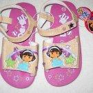 Dora the Explorer Sandals Tan with Pink Sz 9/10 NEW