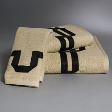 Vera Wang Signature Fingertip Towel - Khaki - 11 x 19 NEW