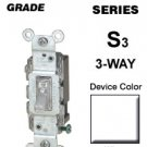 SEALED 3-Way Lighted Switch by Leviton Residential Use # 1463-GLW