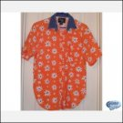 Quizz Again Retro Vintage SS Floral Denim Jean Shirt MEDIUM CLEARANCE SALE