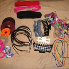 Large Lot of Hair Ties Hair Clips Scrunchies Head Bands More