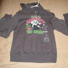 LOONEY TUNES Juniors Medium 7/9 GRAY Holiday HOODIE Hooded Sweatshirt PEPE LE PEW TAGS