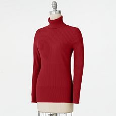 Apt. 9 Womens Turtle Neck Sweater Long Sleeve Extra Large in Red Apt 9 Turtle Neck Ribbed Sweater