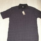 Dockers Brand Patterned Polo Mens Polo Shirt Short Sleeve Sz Small with TAGS Navy