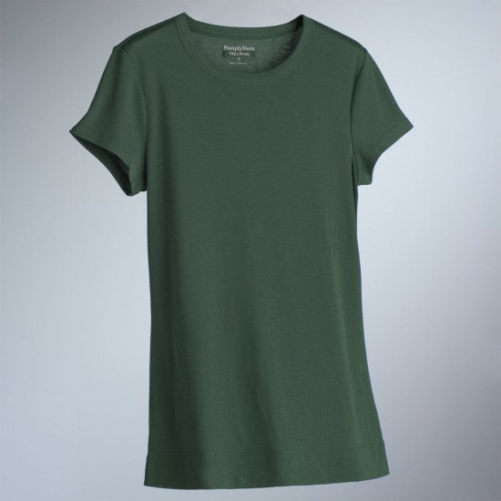 Vera Wang Women's T-Shirt Tee Grass Green Womens Top NEW Size XS