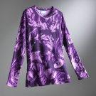 Vera Wang Women's T-Shirt Tee Brush Stroke Purple Womens Top NEW Size XS