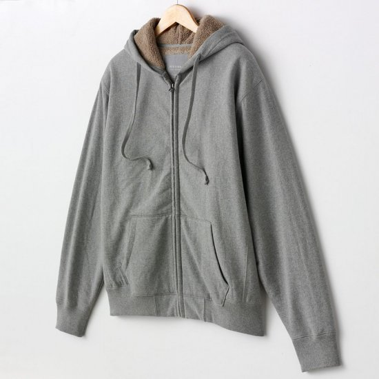 Mens Extra Large XL Gray Sherpa Lined Hoodie Hooded Zip Front SweatShirt Sonoma Brand NEW