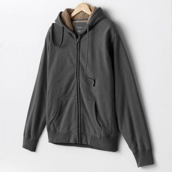 Mens Large L Dark Gray Sherpa Lined Hoodie Hooded Zip Front SweatShirt Sonoma Brand NEW