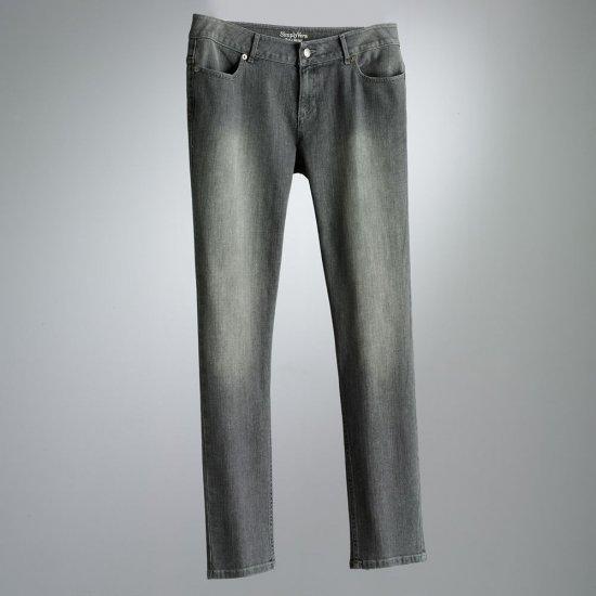 Vera Wang Skinny Leg Jeans Womens Sz. 6 Light Gray Teens, Juniors NEW