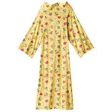 GIRLS Cozy Wrap Up Blanket Like Snuggy FLANNEL Sleeves Back Closure Ages 7-12 NEW Spongebob Yellow