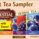 Lot of 4 Celestial Seasons Fruit Tea Sampler Pack Herbal Tea No Caffeine Rasberry Peach and More NEW