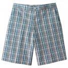 NEW Mens Haggar Shadow Plaid Shorts Blue Plaid Sz. 36 NEW