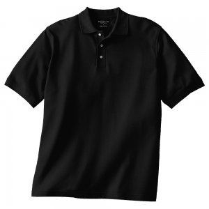 of 3 Solid Black Polo Shirt Shirts Mens Short Sleeve Sz XL with ...