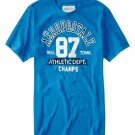 Aeropostale Athletics Champs Graphics T-Shirt Tee Blue Size Medium Mens Teens Boys NEW