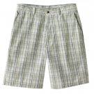 NEW Mens Haggar Shadow Plaid Shorts Tan or Khaki Plaid Sz. 40 NEW