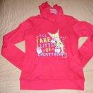 DISNEY Juniors XL 15/17 RED Holiday HOODIE Hooded Sweatshirt TINKERBELLE NEW
