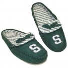 NEW Womens Michigan State Spartans Moccasin Slippers Sz. Large GREEN