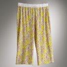 NEW Vera Wang Lounge Capri Pants Capris Floral Print Pajama Capris XS
