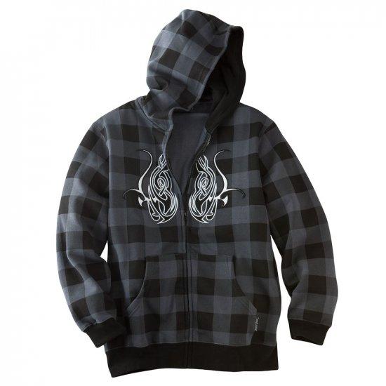 Boys Size Medium Fleece Flame Box Hoodie Hooded Sweatshirt Silver Point Skate Style NEW