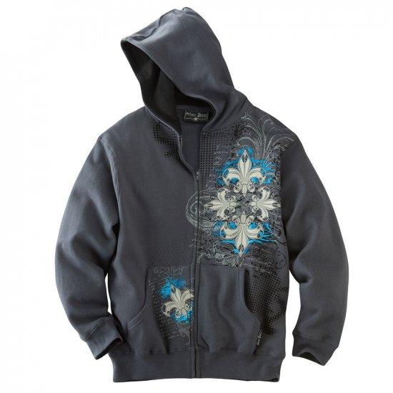 Boys Size Large Fleece Trebol Hoodie Hooded Sweatshirt Silver Point Skate Style NEW