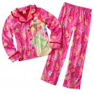 Disney Princess Girls Winter Pajama Set 2 Pc Sz. 6 NEW