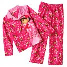 Dora the Explorer Girls Winter Flannel Pajama Set 2 Pc Sz. 4 NEW