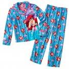 Disney Ariel Girls Winter Pajama Set 2 Pc Sz. 4 Blue NEW