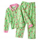 Disney Tinker Bell Tinkerbell Girls Winter Flannel Pajama Set 2 Pc Sz. 4 Green NEW