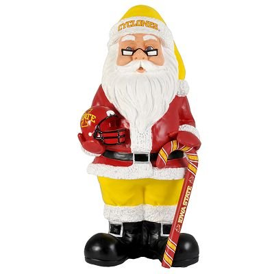 NEW Iowa State Cyclones Santa Christmas Decoration Resin Santa 10+ Inches