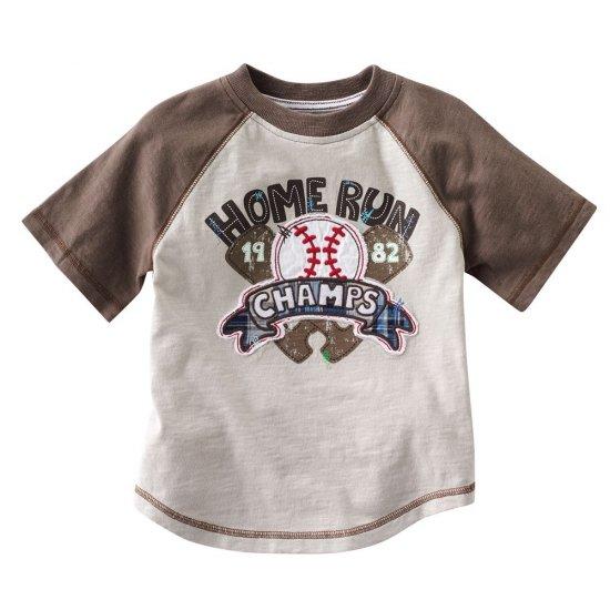 NEW Toddler Boys Home Run Tee by Sonoma Sz. 4T Tan