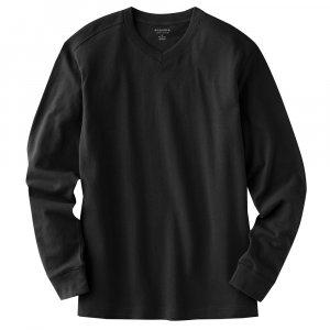 Sonoma Solid Sueded V-Neck T-Shirt Tee Mens Size Medium Teens Boys Black NEW
