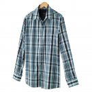 Mens 2 in 1 Casual Button-Front Shirt + Tee  Small or S Blue Sonoma NEW
