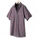 Mens 2 in 1 Casual Button-Front Shirt + Tee Extra Large or XL Wine Gray Sonoma NEW