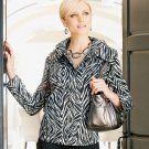 Womens Dana Buchman Animal Anorak Jacket Size Large  NEW