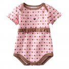 NEW Baby by Bon Bebe One Pc 3 to 6 Mo Baby Outfit Brown Pink Mommas Heart Onesie