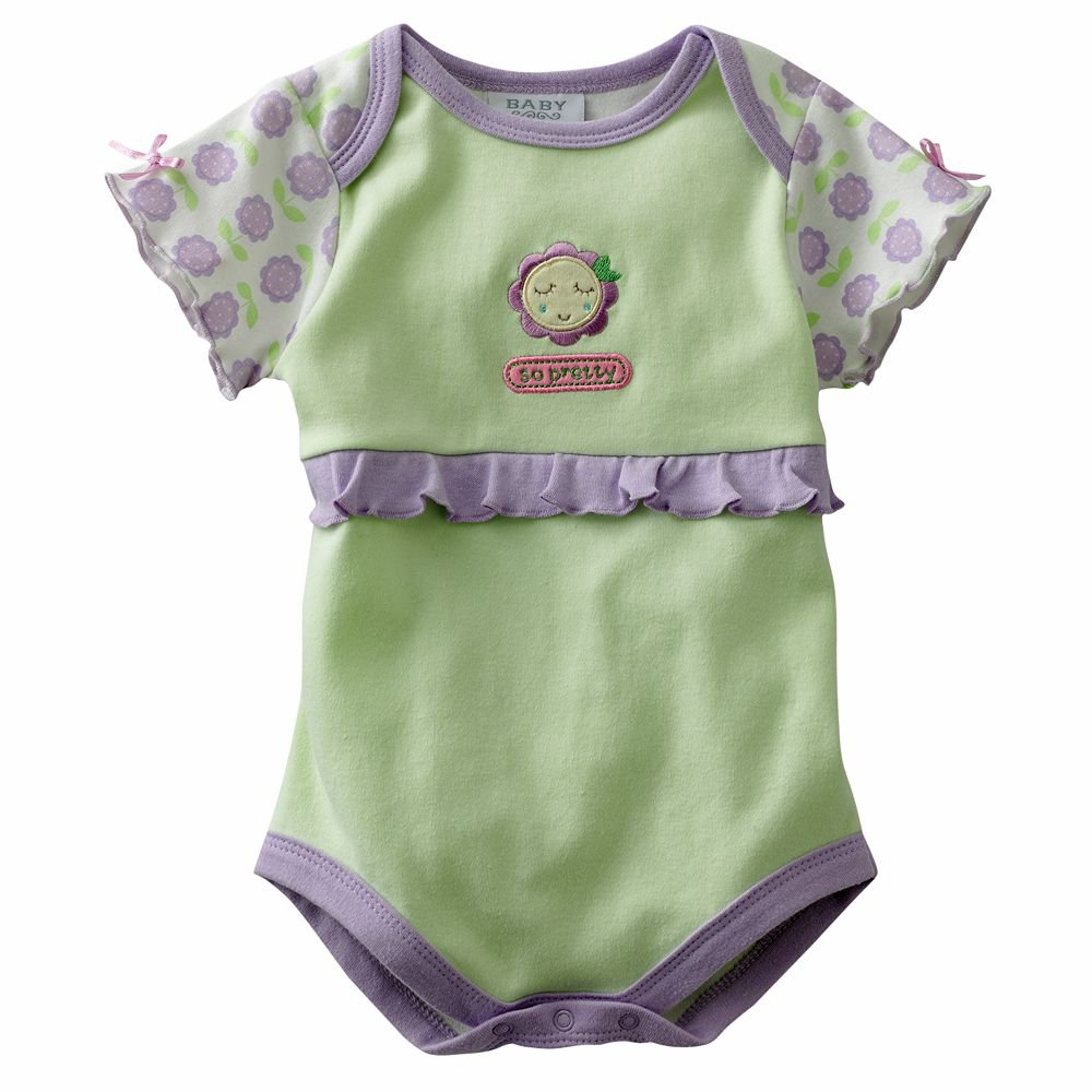 NEW Baby by Bon Bebe One Pc 6 to 9 Mo Baby Outfit So Pretty Floral Onesie