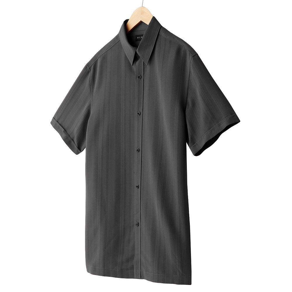 Axcess Mens Striped Casual Button-Front Shirt or Top Axcess Medium or M Kohl Short Sleeve  NEW