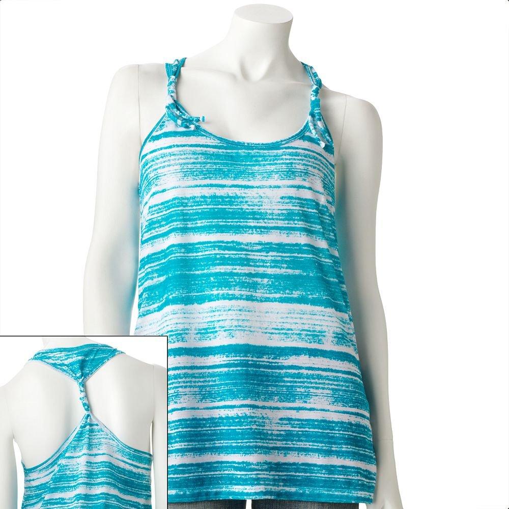 Juniors Teens Girls Teal Blue Knit Tunic Tank Top by Hang Ten Sz Medium or M $24.00 NEW