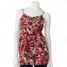Juniors Teens Red Floral Ruffled Camisole Top Shirt by SO Sz Medium M $30.00 NEW