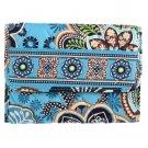 Vera Bradley Euro Wallet Billfold Bali Blue Billfold $27 NEW