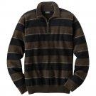 Mens Arrow Brand Striped 1/4 Zip Sweater Brown 2XL or XXL NEW