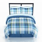 NEW The Big One 8 Piece Bradford Plaid Reversible Bed Set KING Size $180