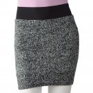 NEW Marled Sweater Skirt by TakeOut Short Style Juniors Sz XL Extra Large Black White $36.00