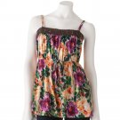 Juniors Teens Floral Crocheted BabyDoll Tank Top Shirt by Candies Sz Large or L $38.00 NEW