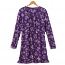 Womens Size Small Chaps Floral Edwardian Nightgown Sleep Shirt $46 NEW