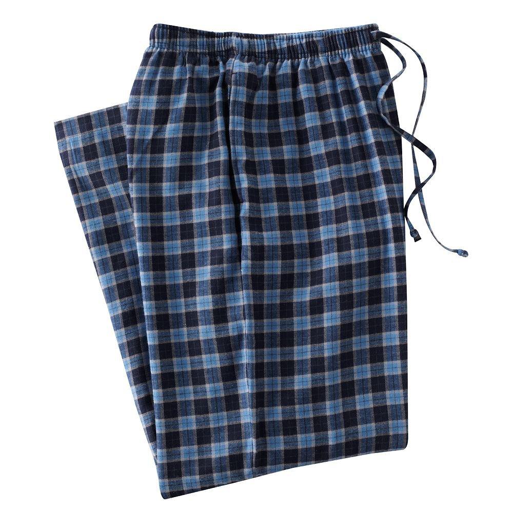 Mens Sz. L or Large Navy Blue Plaid Flannel Sleep Lounge Pants NEW $30