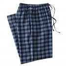 Mens Sz. Small or S Navy Blue Plaid Flannel Sleep Lounge Pants NEW $30