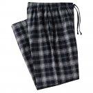 Mens Sz. Medium or M Multi Black Gray Plaid Flannel Sleep Lounge Pants NEW $30