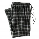 Mens Sz. Large or L Multi Dark Green Plaid Flannel Sleep Lounge Pants NEW $30