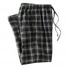 Mens Sz. Medium or M Multi Dark Green Plaid Flannel Sleep Lounge Pants NEW $30